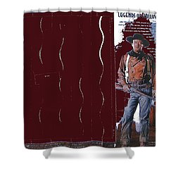 Shower Curtain featuring the photograph John Wayne Stamp 2004-2013 by David Lee Guss