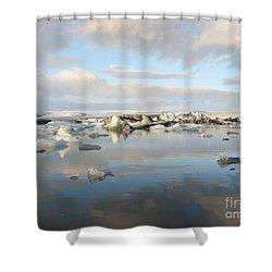 Jokulsarlon Glacier Lagoon Shower Curtain