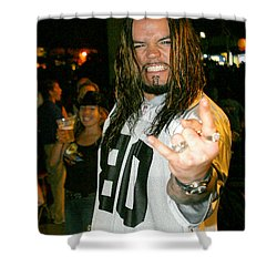 Josey Scott  Saliva Shower Curtain