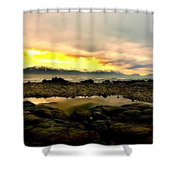 Shower Curtain featuring the photograph Kaikoura Coast New Zealand by Amanda Stadther