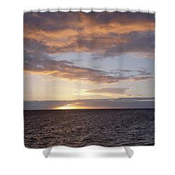 Kailua Sunset Shower Curtain by Brandon Tabiolo