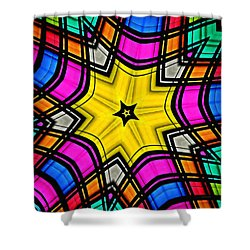 Kaleidoscope 4 Shower Curtain