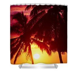 Shower Curtain featuring the photograph Kamaole Nights by Sharon Mau