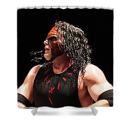 Kane The Wrestler Shower Curtain by Paul  Wilford