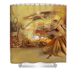 Kathak Dancer 4 Shower Curtain by Catf