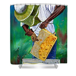 Keeper Of The Bees Shower Curtain