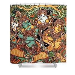 Kerala Mural Painting Shower Curtain