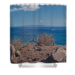 Kohemalamalama O Kanaloa Shower Curtain by Sharon Mau