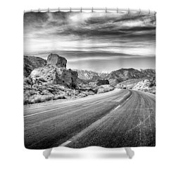 Shower Curtain featuring the photograph Kyle Canyon Road by Howard Salmon