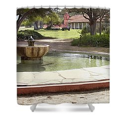 La Purisima Fountain Shower Curtain