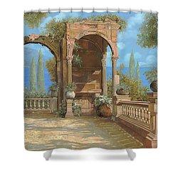 La Terrazza Sul Lago Shower Curtain by Guido Borelli