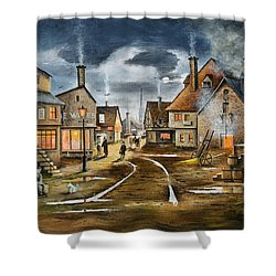 Lady At The Window Shower Curtain