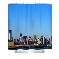 Lady Liberty Watches 1wtc Rise Shower Curtain