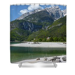 Lago Di Molveno - Italy Shower Curtain by Phil Banks