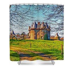 Chateau De Landale Shower Curtain by Elf Evans