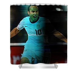 Landon Donovan Shower Curtain by Marvin Blaine