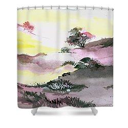 Landscape 1 Shower Curtain by Anil Nene