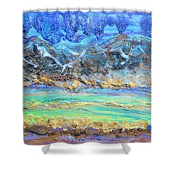 Landscape Layers Shower Curtain by Regina Valluzzi