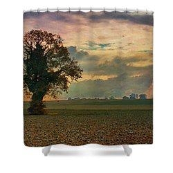 L'arbre Shower Curtain by Jean-Pierre Ducondi