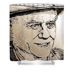 Larry Hagman In 2011 Shower Curtain by J McCombie