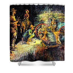 Late Dinner Shower Curtain
