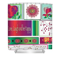 Laugh Shower Curtain by Iris Gelbart