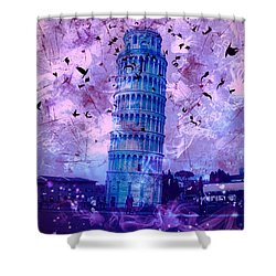 Leaning Tower Of Pisa 2 Shower Curtain