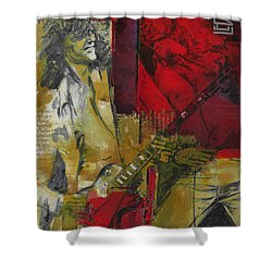 Led Zeppelin  Shower Curtain by Corporate Art Task Force