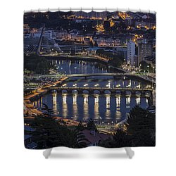 Shower Curtain featuring the photograph Lerez River Pontevedra Galicia Spain by Pablo Avanzini