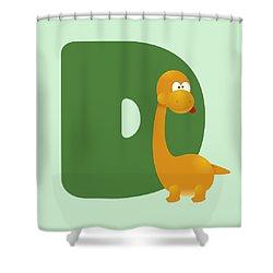 Letter D Shower Curtain