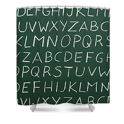Letters On A Chalkboard Shower Curtain