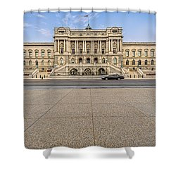 Shower Curtain featuring the photograph Library Of Congress by Peter Lakomy