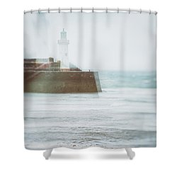 Lighthouse Shower Curtain by Amanda Elwell