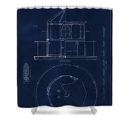 Lighthouse Lantern Drawing Shower Curtain by Jerry McElroy
