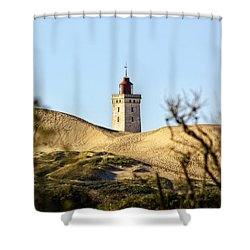 Lighthouse Shower Curtain by Mike Santis