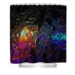 Lights Behind Frosted Glass Shower Curtain