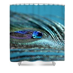 Liquid Blue Shower Curtain