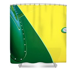 Lister Hood Emblem Shower Curtain by Jill Reger