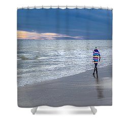 Little Girl At The Beache Shower Curtain