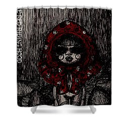 Little Red Riding Hood Shower Curtain by Akiko Okabe