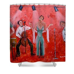 Live Jazz Shower Curtain