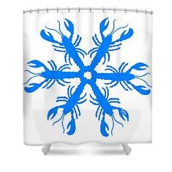 Lobster Snowflake 198 20080719 Shower Curtain by Julie Knapp