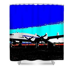 Lockheed Constellation Shower Curtain by Will Borden