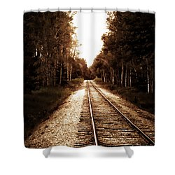 Lonely Railway Shower Curtain