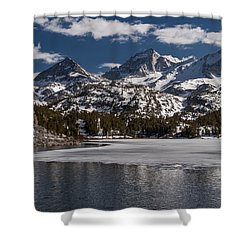 Long Lake Shower Curtain by Cat Connor