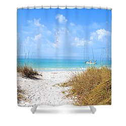 Anna Maria Island Escape Shower Curtain by Margie Amberge