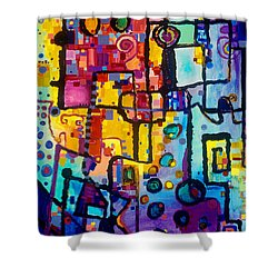Lost Papers And Urban Plans Shower Curtain