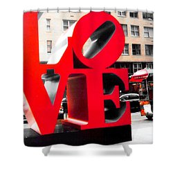 Love Shower Curtain by J Anthony