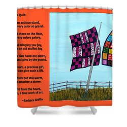 Love Of A Quilt  Shower Curtain by Barbara Griffin
