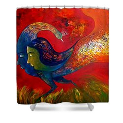 Love Shower Curtain by Sanjay Punekar